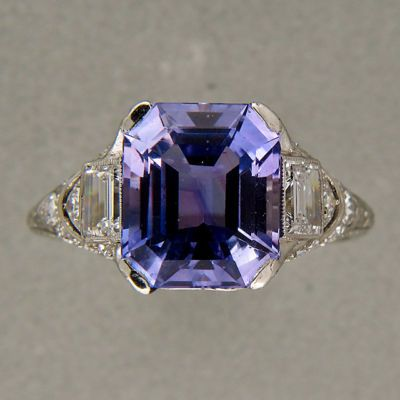 Color Change Sapphire and Diamond Engagement Ring Photo credit: Pinterest