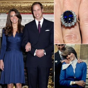 Princess Kate and Princess Diana and their Sapphire Engagement Ring Photo credit: Popsugar