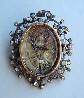 Victorian Mourning Jewelry Brooch