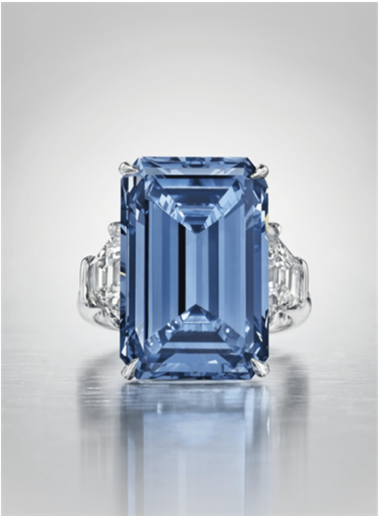the legendary Oppenheimer Blue Diamond