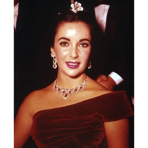Elizabeth Taylor Ruby Necklace and Earrings Set