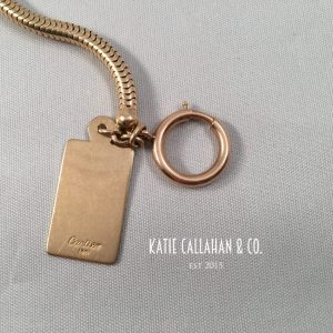 "14kt Yellow Gold Snake 18"" Chain with 14kt Cartier Tag (Vintage)"