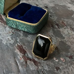 Victorian Tortoiseshell 10kt Yellow Gold Ring (Antique)
