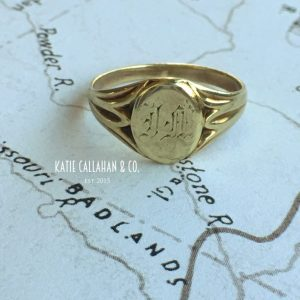 Edwardian 14kt Yellow Gold Signet Ring (Vintage)