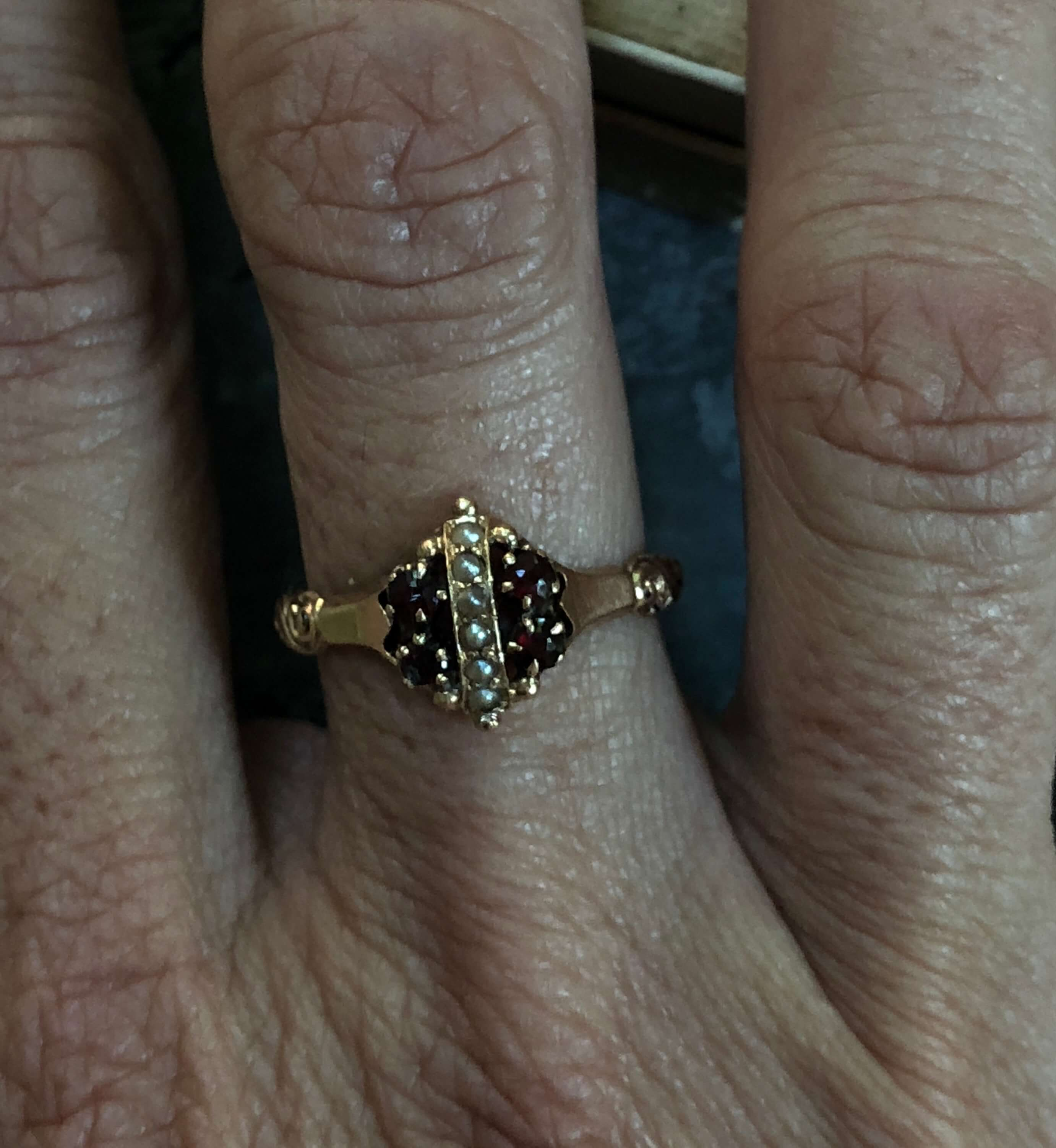 Victorian 14kt Yellow Gold Allsopp Brothers Garnet And