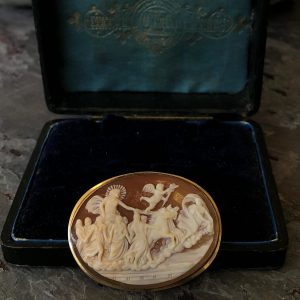 Victorian Cameo 18kt Yellow Gold Aurora with Apollo Converter Brooch (Vintage)