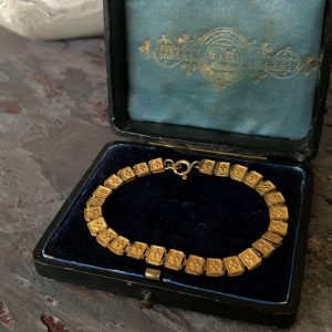 Vintage Gold Filled Mid Century Panel Bracelet