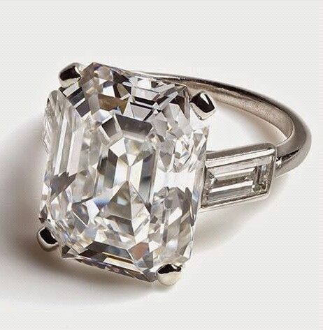 Princess Grace of Monaco's second engagement ring by Cartier.